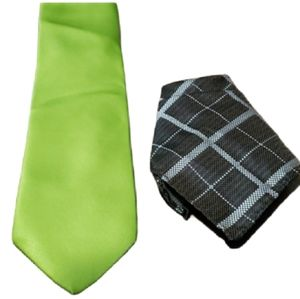 George Tie and Pocket Square Combo